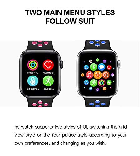 """BaoZan Smartwatch,Relojes Inteligentes Impermeable IP67 para Mujer Hombre niños,Reloj de Fitness con Monitor de Frecuencia Cardíaca/Sueño/Calorías/Pasos,Pantalla Inteligente de 1.5""""para iOS Android miniatura"""