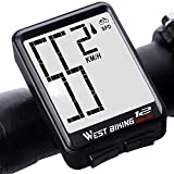Bicycle Computer Wireless Speedometer, Big Font Data Display Waterproof Automatic Wake-up Stopwatch