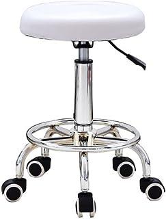 Tabouret pivotant à 360° WUPYI2018 sur roulettes - Tabouret de travail - Tabouret de travail - Hauteur réglable - Coussin ...