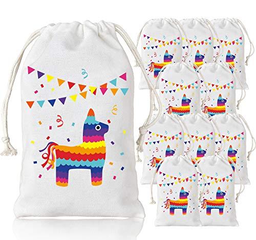 Lama Party Taschen Parteibevorzugung Goodie Treat Taschen für Lama Geburtstagsparty Fiesta Cinco de Mayo Party Supplies 12 Pack