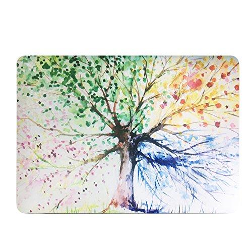 Estuche rígido de plástico recubierto de caucho Funut Estilo de moda para laptop MacBook Retina de 12 pulgadas (Modelos: A1534) - Árbol colorido