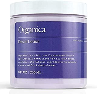 Organica Dream Lotion | Lavender Sleep Body Lotion Moisturizing Cream | Sleep Aid, Anxiety Relief, Vegan Skin Care, Natural Calm Night Stress
