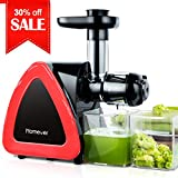 Juicer Machines, HOMEVER Slow Masticating Juicer for Fruits and Vegetables, Quiet Motor, Reverse...