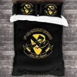 XINDENGSHANG 1st Air Cavalry Division Air Cav - Live The Legend Vegeta 3 Pieces Bedding Set Duvet Cover for Full Twin Size Bed Ultra Soft Breathable for Bedroom 2 Piece Pillow Cover and Duvet Cover