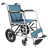 DLC@ED Rollstuhltransport Reisen Rollstuhl mit Eigenantrieb Tragbarer Kellner Schiebeleuchte Zusammenklappbar Abnehmbarer Trolley Gehhilfen komfortabel -