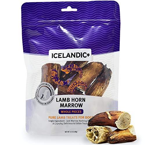 Icelandic+ | All-Natural Dog Chew Treats | Lamb Horn Marrow Whole Pieces, 4.5 oz.