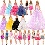 Festfun 10 Vêtements Robes de Poupée 5 Robes de Cérémonie Vêtements de Soirée + 5 Robes Chics pour Poupée Fille de 11,5 Pouce (Style Aléatoire )