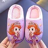 Zapatillas De Algodón para Niños, Princesa Cálida, Invierno, Adorables Zapatos De Lana Roja De Red, Zapatos para El Hogar con Fondo Suave para Niña