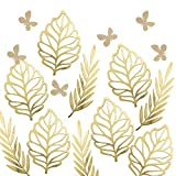 Ling's moment Paper Crafts Foliages Assorted, Big Leaves & Willow & Glitter Butterflies, Paper Flower Decorations for Baby Nursery, Bridal Shower, Wedding Backdrop, Table Centerpiece, Photo Booth