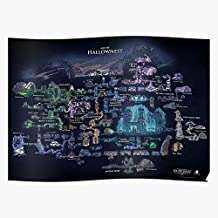 Map Cherry Team Hallow Hallownest Knight Area Hollow Areas - Gift for Home Decor Wall Art Print Poster
