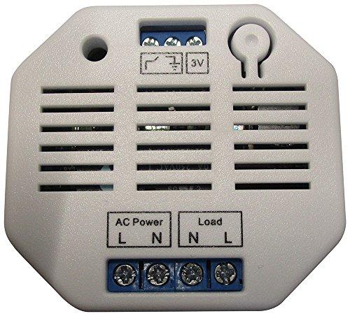 Lupus Electronics LUPUSEC Unterputzrelais mit Stromzähler für die XT Alarmanlagen, kompatibel mit der XT1 und XT2 Funk Alarmanlagen, Energieklasse A, 12023