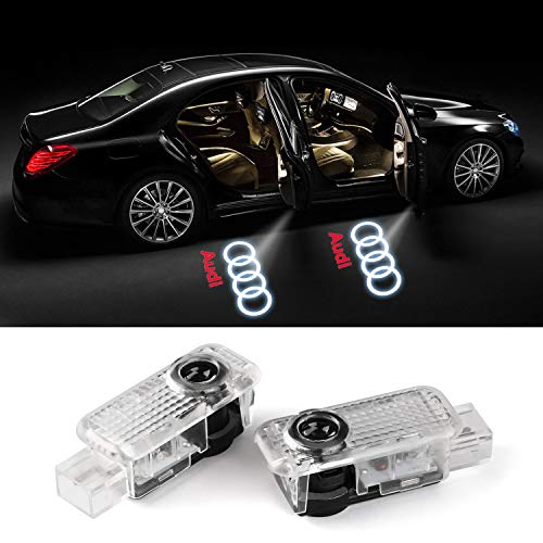 For Audi various series and door LED Lighting Entry Ghost Shadow Projector Welcome Lamp Logo Light for Audi Series (2 pack)