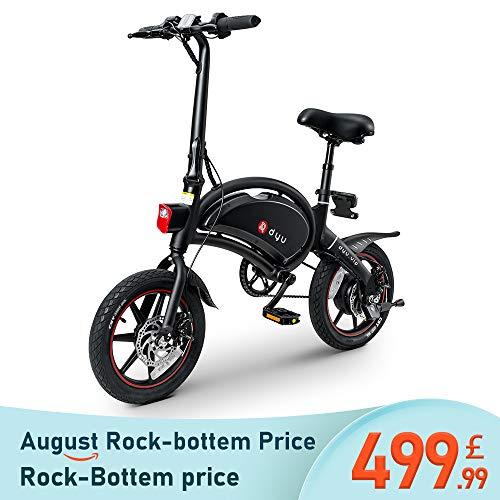 LENTIA Electric Bike Smart Mountain Bike for Adults Folding E Bikes E-bike 50km Mileage 10Ah Lithium-Ion Batter 3 Riding Modes 240W Max Speed 25km/h