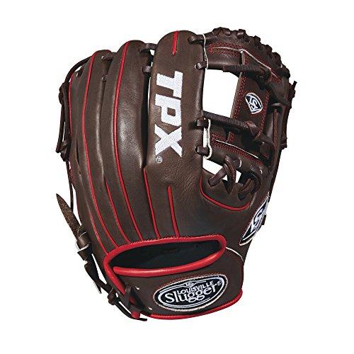 """Louisville Slugger 2018 Tpx Infield Baseball Glove - Right Hand Throw Dark Brown/White/Red, 11.5"""""""