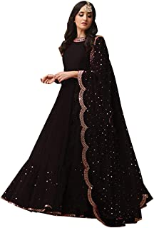 bc01dd8954 Fabrizo Womens Georgette embroidered Salwar suits for Women | Salwar Suits  For Women Readymade | Gown