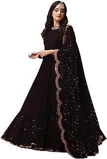 25c472e3c7c63 Fabrizo Womens Georgette embroidered Salwar suits for Women | Salwar Suits  For Women Readymade | Gown