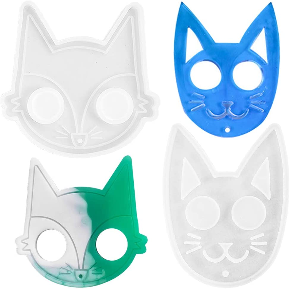 2 Pack Epoxy Resin Trust Moulds Sili Kit Casting favorite Kitty FineGood