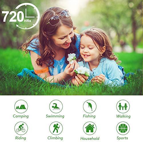 AMEU Bracelet Anti-Moustique, 12 Pcs Matériau Naturel et Non Toxiques, pour Adultes et Enfants Anti Moustique Bracelet, Extérieure Intérieure Bracelet Anti Moustique Réglable