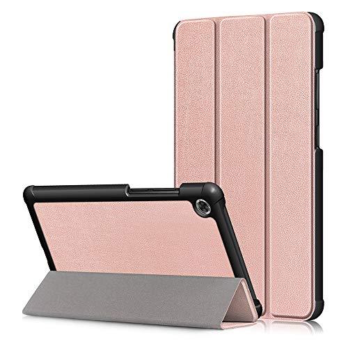 XINKO Hoesje Voor Lenovo Tab M8, Premium Kwaliteit PU Lederen Hoesje Slim Flip Shell Hoesje voor Lenovo Tab M8 -, for Lenovo Tab M8, Rosegoud
