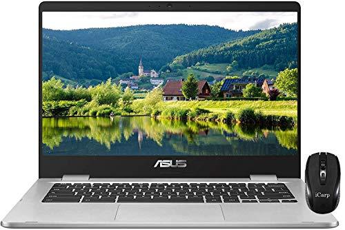"2020 Flagship ASUS chromebook C523 15 Laptop 15.6""Anti-Glare LED Display Intel Celeron Processor N3350 4GB RAM 32GB eMMC Type-C WiFi Bluetooth WebcamChrome OS + iCarp Wireless Mouse"