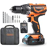 VonHaus Cordless Drill Driver with 2.0Ah Li-ion 20V MAX Battery, Charger, 13pc Bit