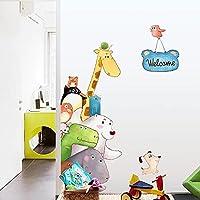 子供たちのための創造的なかわいいキリン動物の子供の壁のステッカー男の子の寝室の壁の装飾自己接着剤ステッカー装飾ホーム66 * 42cm