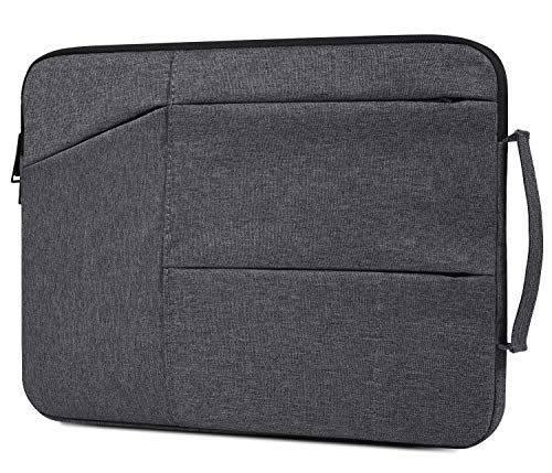 11.6 Inch Waterproof Laptop Briefcase Fit Acer R 11 Chromebook, Samsung Chromebook 3, DELL 11.6 Chromebook, Surface Pro 7/6, DELL HP Lenovo Chromebook 11.6 Protective Notebook Bag, Space Grey