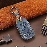XQRYUB Leder Auto Remote Key Hülle Schlüsselhülle, Passend für Subaru XV BRZ Forester 2019 Legacy Outback 4Button