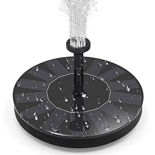 ZYYBRE Solarbrunnenpumpe, Solarteichpumpe, 1,4 Watt Einkristall-Solarwasserpumpe mit 4 Düsen, geeignet für Gartenteiche, Aquarien, Wasserbecken, Gartenbrunnen
