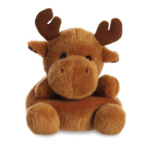 AURORA, 99132, Palm Pals Reindeer, 5In, Soft Toy, Brown