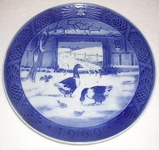 Royal Copenhagen Plate In the Old Farmyard 1969 by Royal Copenhagen