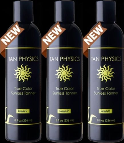 Tan Physics True Color Sunless Tanner, Pack of 3