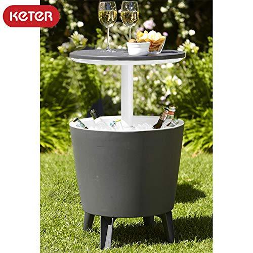 KETER Coolbar anthrazit Stehtisch Partytisch Cocktailbar Kühlbox Gartentisch