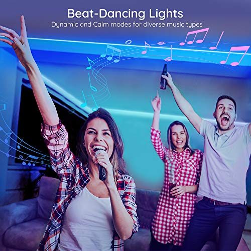 Govee 65.6 Feet RGB Led Light Strip, App Control, Music Mode for Room, Kitchen, Ceiling, Party 3