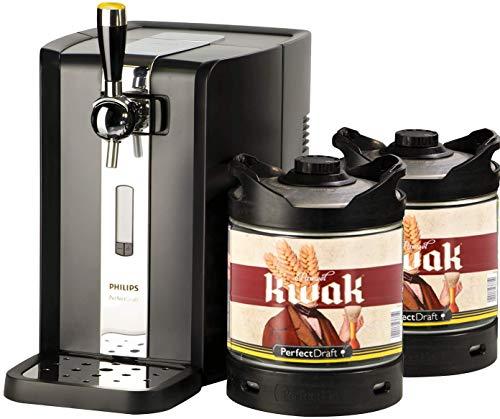 Bierzapfanlage PerfectDraft 6-Liter. Beinhaltet 2 x 6L Fässer Pauwel Kwak Bier - Starkes Ales. Inklusive 10Euros Pfand.