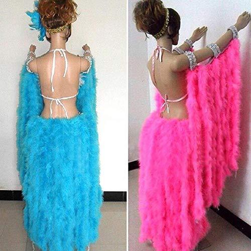 Turbobm Boa de Plumas, Boa de Plumas de Fiesta Colorida Boas de Plumas para niñas para Disfraces Fiesta de Bodas Vestir Decoración de Flores para el hogar Celebridades