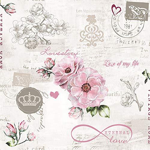 20 Servietten Zeitlose Liebe als Tischdeko für die Hochzeit im Vintage-Look 33x33cm