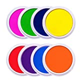 Lsushine Craft Large Ink Pad Stamps Partner DIY Color,8 Colors Rainbow Finger Ink pad for ...