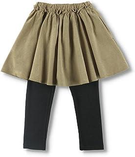 [ブランシェス] コーデュロイ 無地 花柄 スカッツ 女の子 キッズ ガールズ スカート付 スパッツ ロングパンツ Aライン