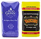 Alto Grande Medium-Dark Roast and Yaucono Medium Roast, Whole Bean Coffee, one bag of each, 2 Pound (Pack of 2)
