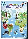 Trötsch Stickerbuch Mein erster Weltatlas: Stickerbuch Beschäftigungbuch Lernbuch: 24 Seiten mit 4 Stickerseiten und Poster