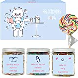SMARTY BOX Caja Regalo Caramelos y Gominolas Día del Padre, Papá, San José, Cumpleaños , Cesta Golosinas Chuches Dulces sin Gluten, Fabricado en España