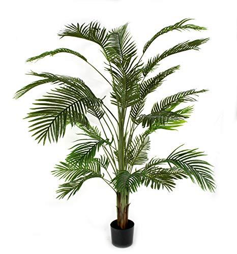 DARO DEKO Kunst-Pflanze Areca-Palme im schwarzen Topf 210cm
