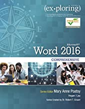 Exploring Microsoft Word 2016 Comprehensive (Exploring for Office 2016 Series)