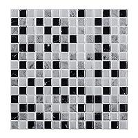 防水 ビッグサイズ12×12インチの自己接着防水耐熱ビニール壁紙3Dピールとスティックモザイクタイル - 1シート エコフレンドリー (Color : TSQS56)