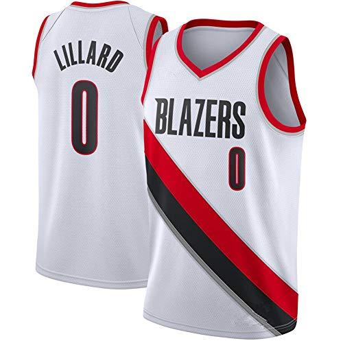 Herren Damian Lillard #0#3 Mccollum Trikots - Portland Trail Blazers Stickerei Swingman Jerseys Basketball Spieltrikot Fan-Trikot Weste (S-XXL),5,XL
