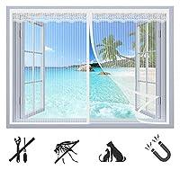 簡易網戸 防虫ネット 虫よけ 窓用 玄関網戸,開閉 自動式磁気カーテン 取り付け簡単 メッシュド, アや窓に最適 黒, 1-B, 120X220CM