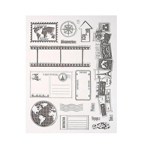 Demiawaking Transparente klare Briefmarke DIY Stempel Clear transparent Schneiden Schablonen für DIY Scrapbooking Album, Schneiden Schablonen Papier Karten Sammelalbum Dekor (12)