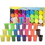 Arcilla para modelar para niños,24 colores, 24 latas, 75g / lata, total 2 KG,no tóxica para secar al aire para niños, dulces o Golosinas, precios en el aula, útiles escolares (Multicolor, 24 color)
