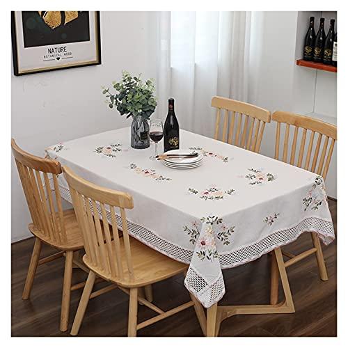 GFHH Mantel de Ganchillo 100% Hechos a Mano, Elegante decoración de Mesa Floral rústica Europea, Ropa de algodón Ahueca hacia Fuera un paño de Mesa 420 (Size : 60x60cm)